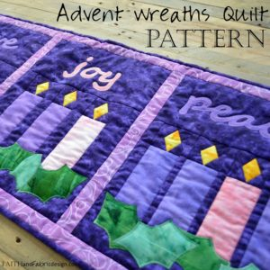 Pattern: Advent Quilt - Advent Wreaths