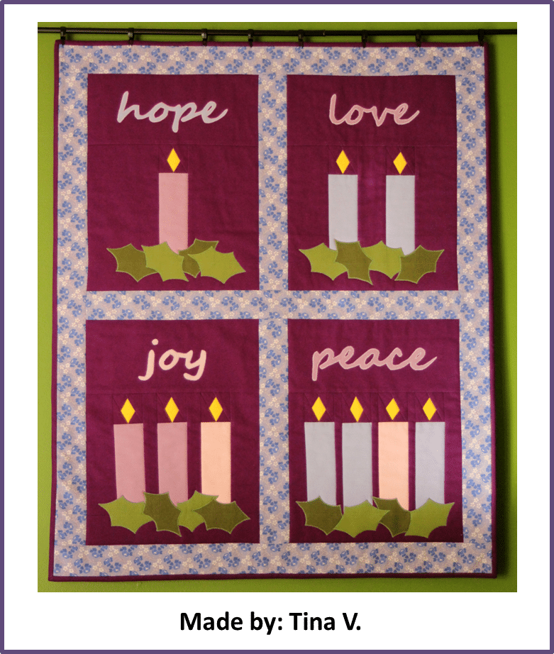 Faith and Fabric - Catholic Advent Quilt made by Tina V