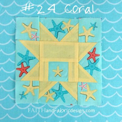Farmer's Wife Quilt: Block 24 Coral