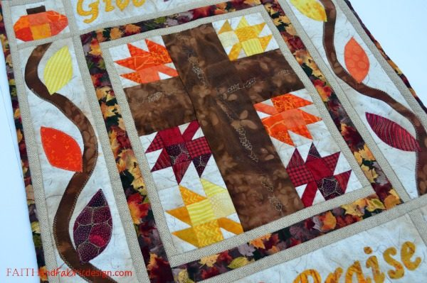 Faith and Fabric - Give Thanks and Praise Catholic Quilt 1