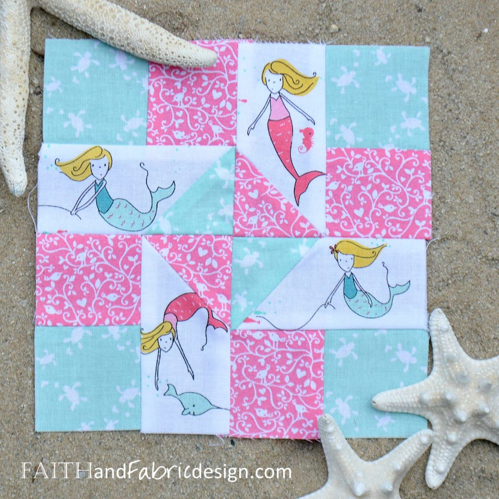 Under the Sea Block by Faith and Fabric