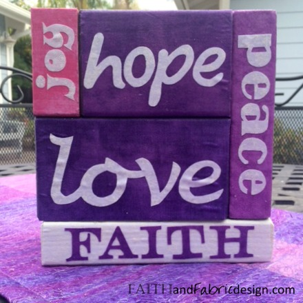 Faith and Fabric - Advent Blocks Craft Project 3