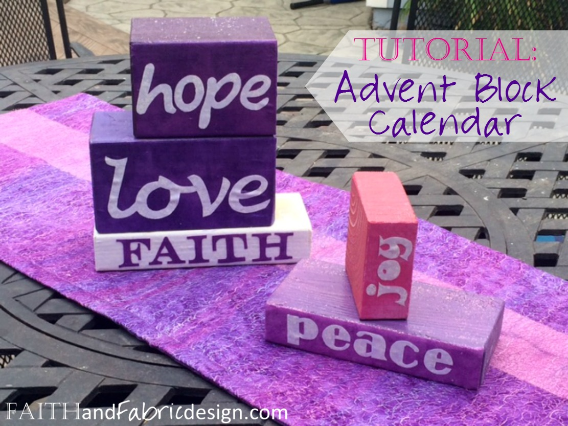 Faith and Fabric - Advent Blocks Craft Project 4