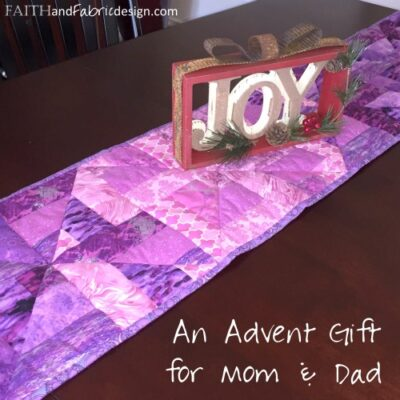 Quilting: Advent Table Runner (block design)