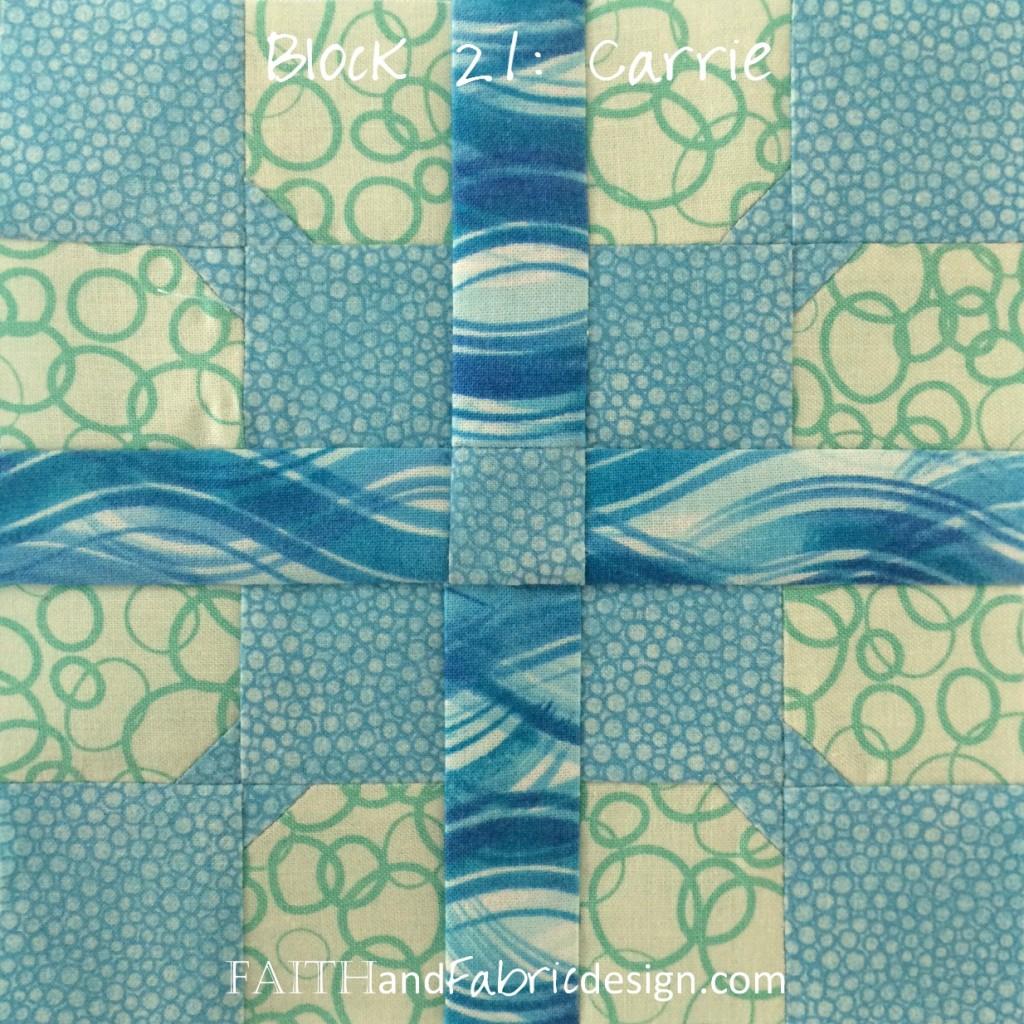Faith and Fabric - Farmer's Wife 1930s Quilt Block 21 Carrie