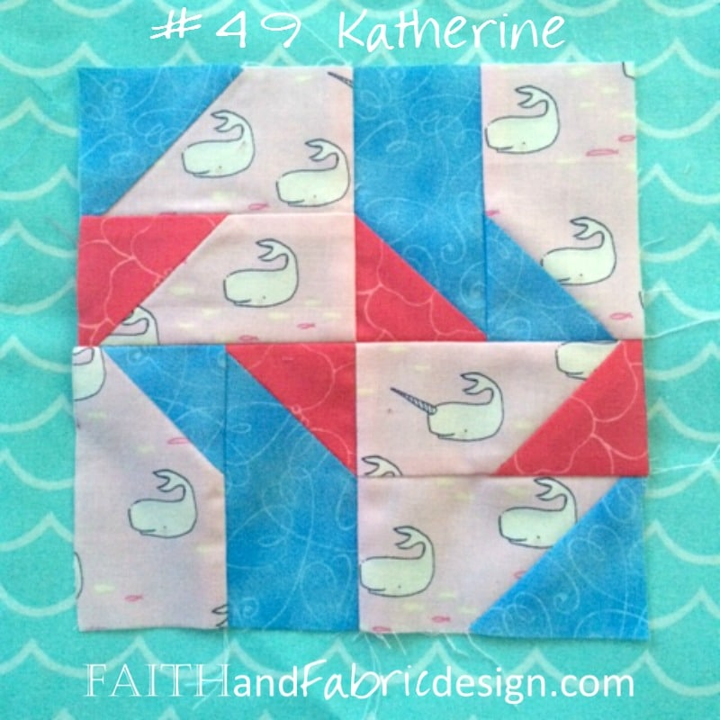 Faith and Fabric - Farmer's Wife 1930s Quilt Block 49 Katherine