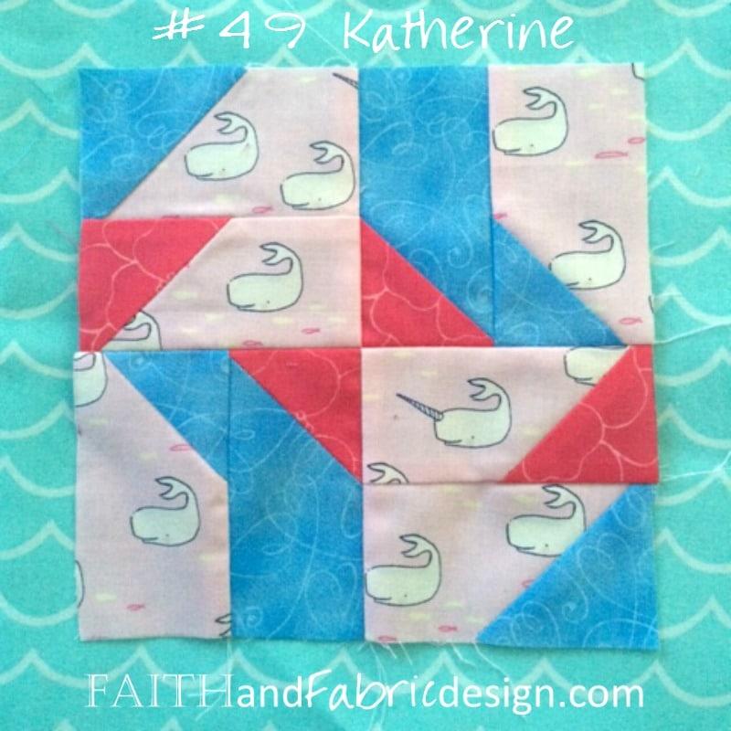 Farmer's Wife Quilt: Block 49 Katherine