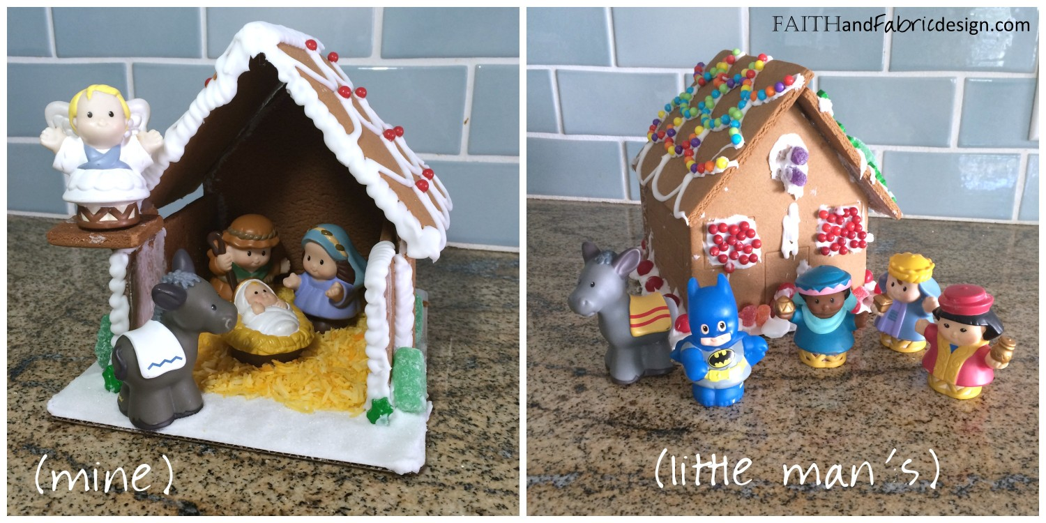 Faith and Fabric - Gingerbread Nativity Tutorial 3