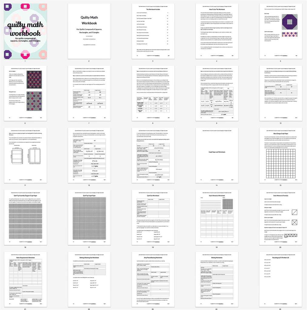Faith and Fabric - Quilty Math Workbook