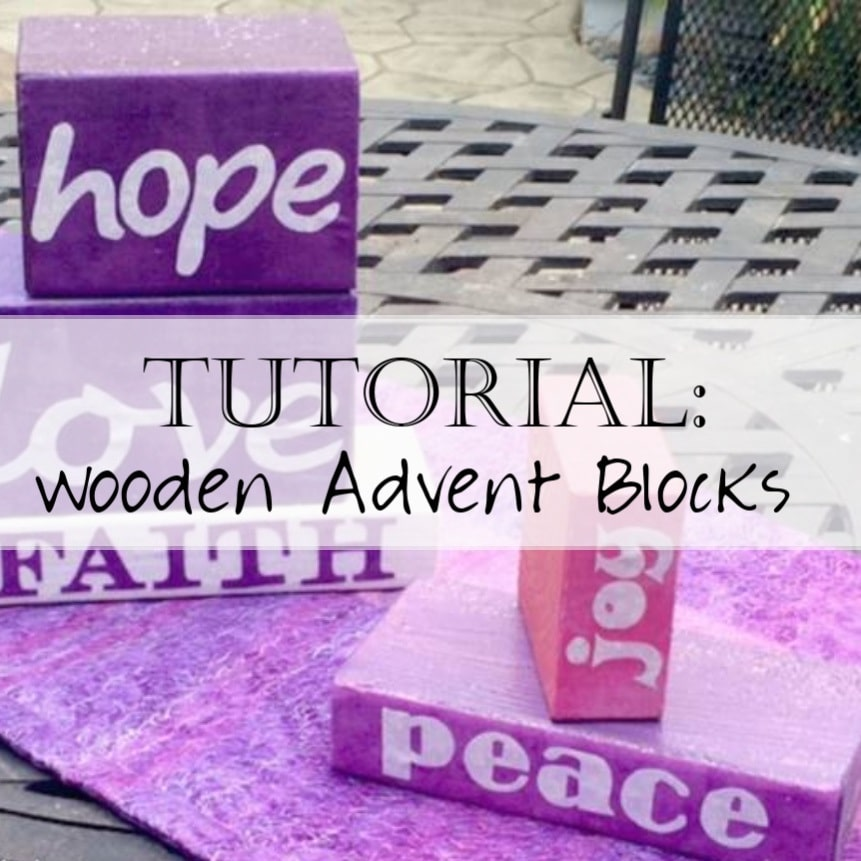Tutorial: Wooden Advent Calendar Blocks