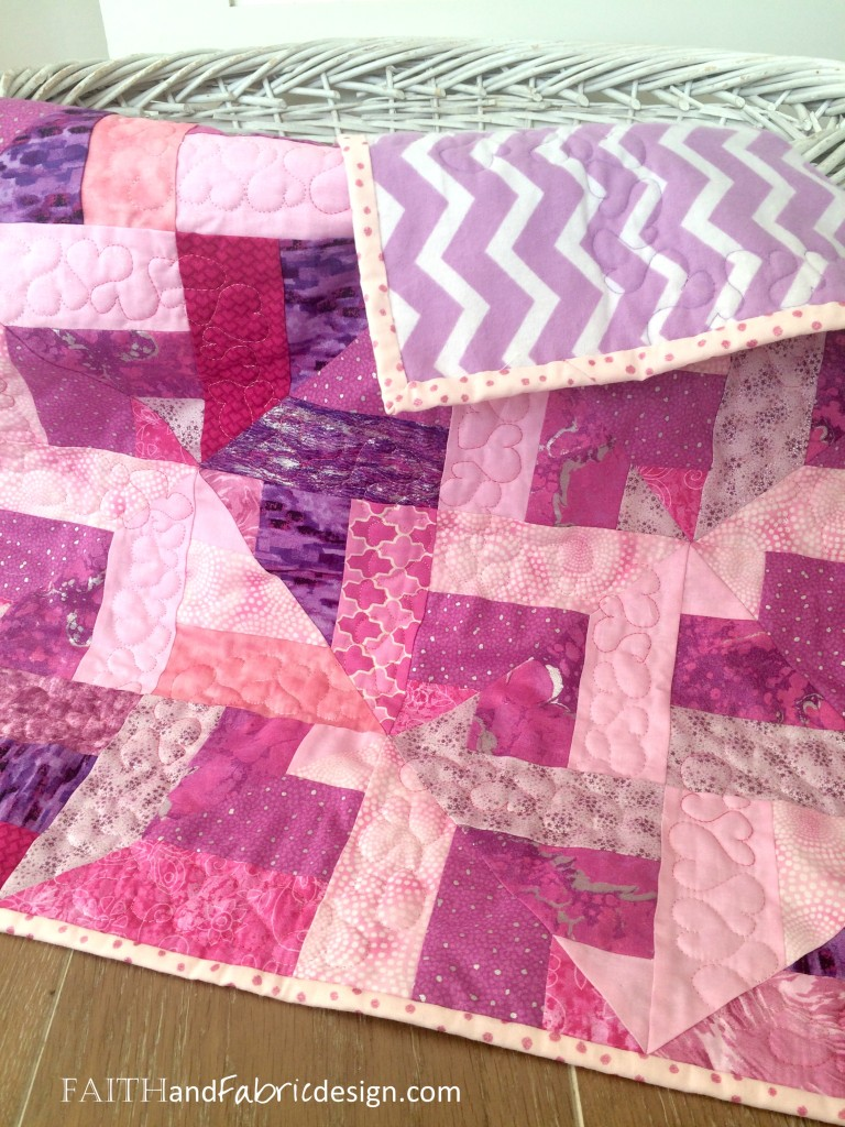 Faith and Fabric - Baby Girl Quilt 5
