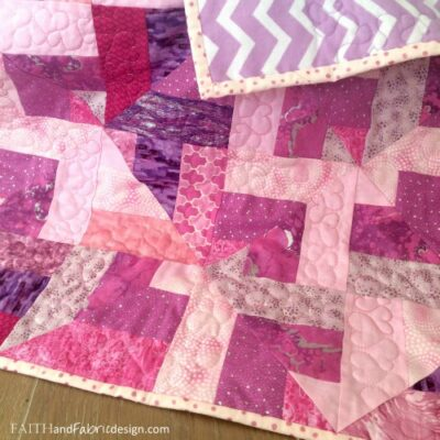 Quilting: Heart-filled Baby Girl Quilt