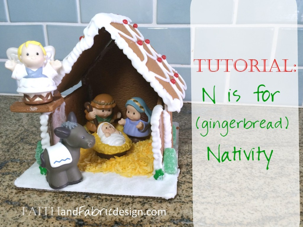 Faith and Fabric - Gingerbread Nativity Tutorial ABC