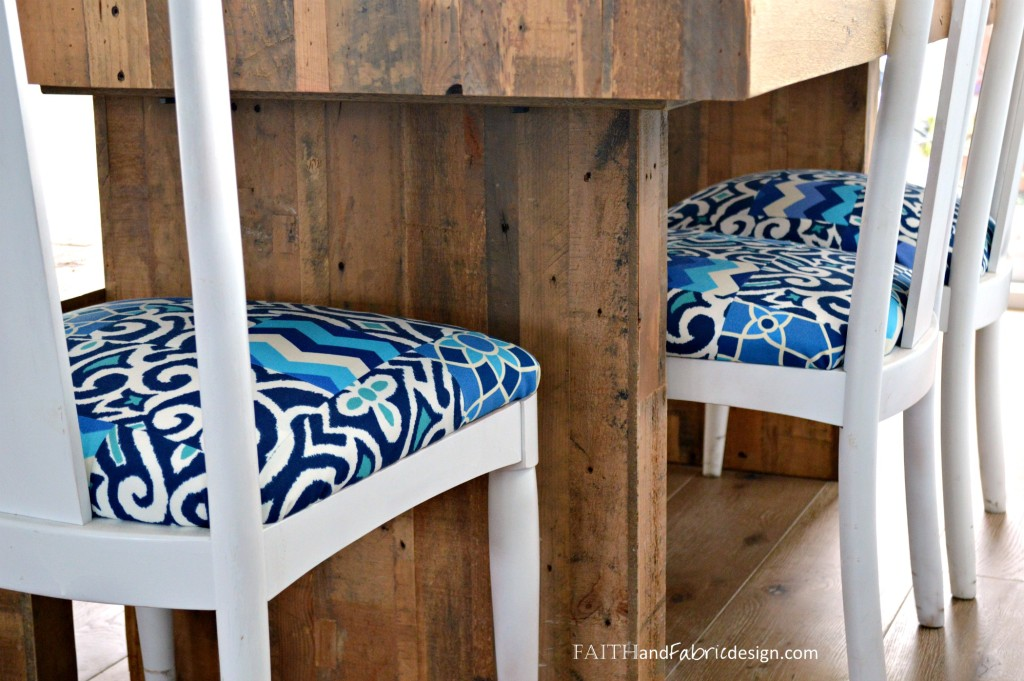 Faith and Fabric - How to Reupholster a Chair with a Quilt 2