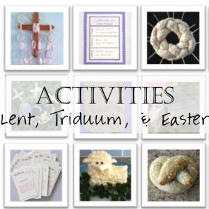 Family Activities for Lent and Easter Header