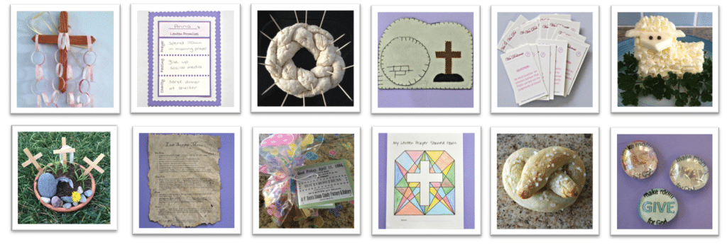 Faith and Fabric - Lent Activities for Kids, Family Activities for Lent, Projects for Easter