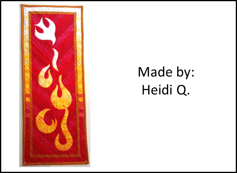 Faith and Fabric - Pentecost Quilt Made by Heidi Q