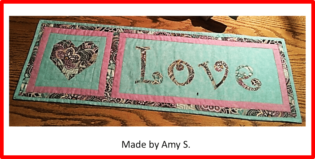 Faith and Fabric - Saint Valentine's Day Quilt Made by Amy B
