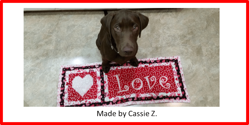 Faith and Fabric - Love Saint Valentine Day Quilt by Cassie Z