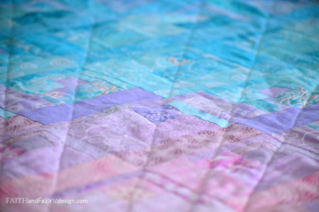 Faith and Fabric - Christian Easter Quilt - Risen Detail