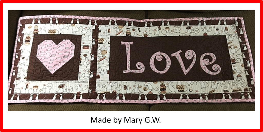 Faith and Fabric - Saint Valentine's Day quilt pattern made by Mary GW