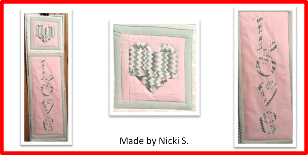 Faith and Fabric - Saint Valentine's Day Quilt Pattern by Nicki