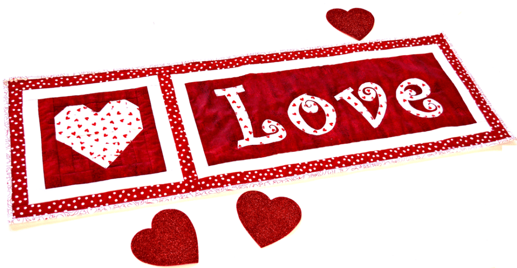 Pattern Saint Valentine S Day Quilt Pattern Love Table Runner And