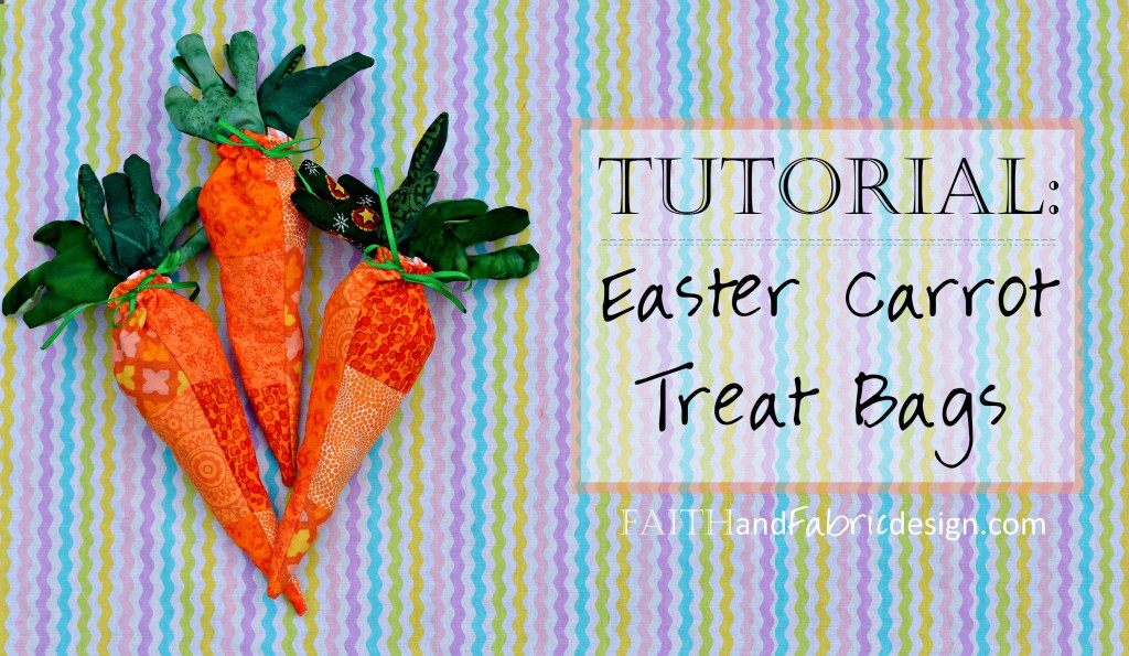 Tutorial: Easy Easter Sewing Projects – Carrot Bags – Faith and ...