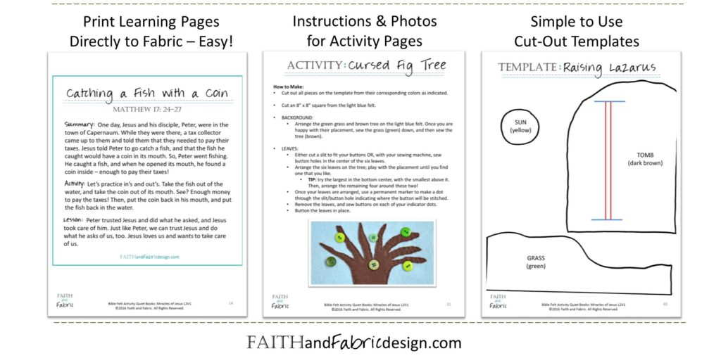 Felt Bible Activity Book for Quiet Time - Pages