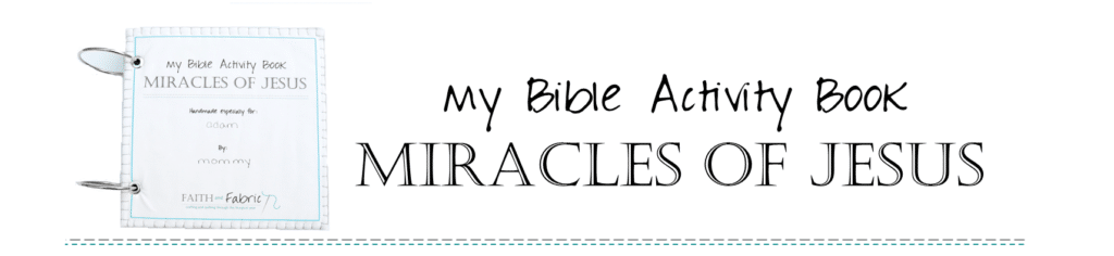 How to Make a Miracles of Jesus Felt Activities Bible Quiet Book with Pattern and Instructions 2