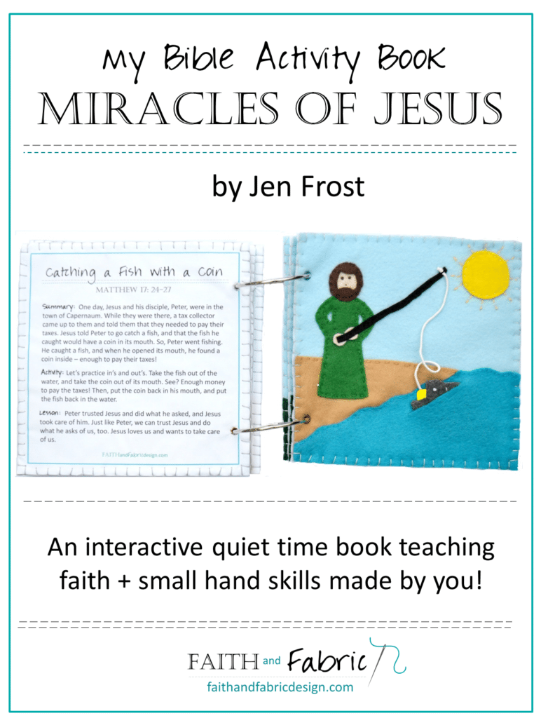 How to Make a Miracles of Jesus Felt Activities Bible Quiet Book with Pattern and Instructions Cover
