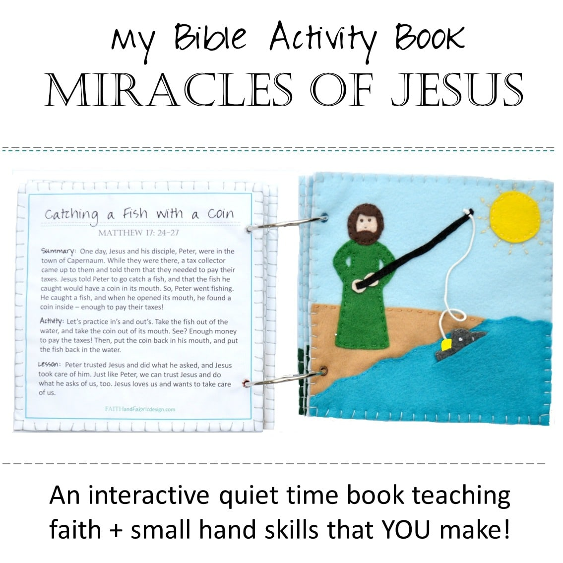 PATTERN: Felt Bible Activity Books – Miracles of Jesus