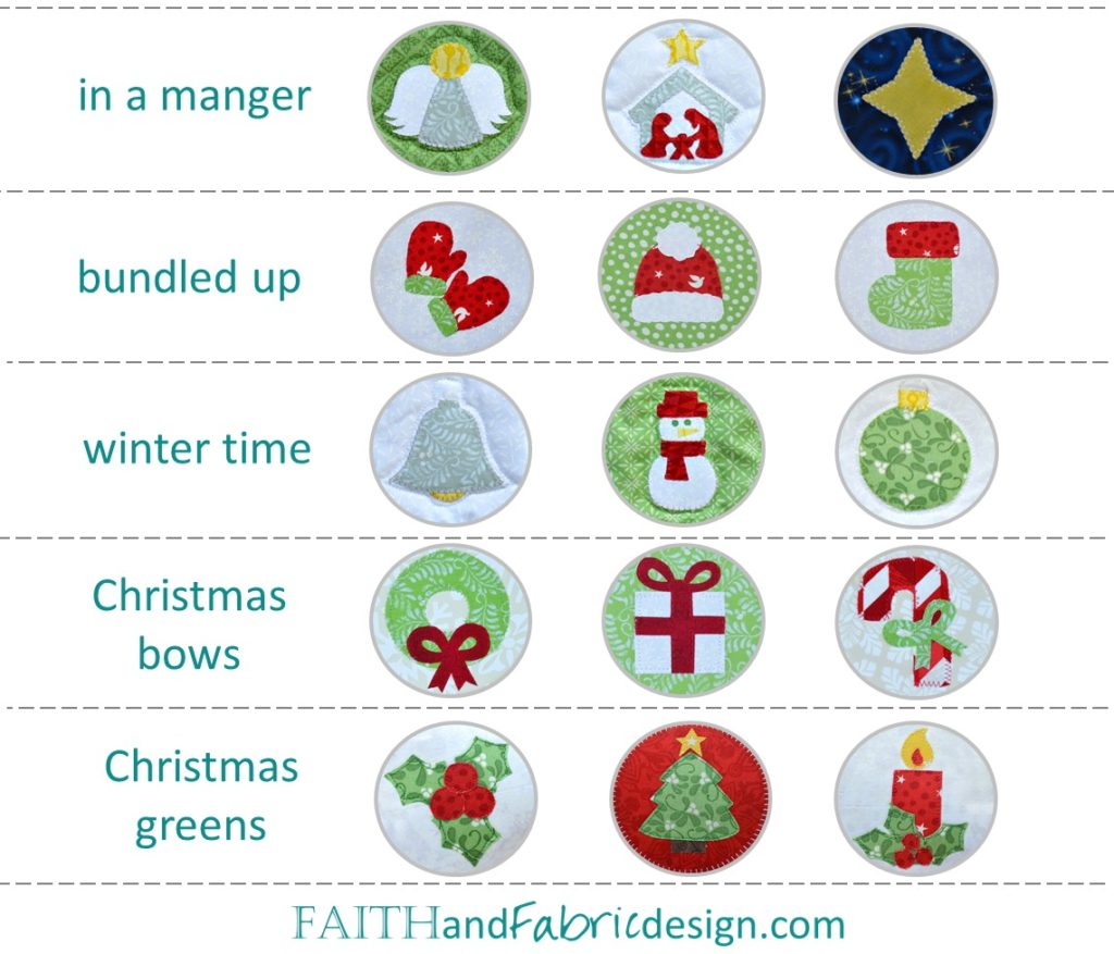 Christmas Applique Quilt Patterns 1