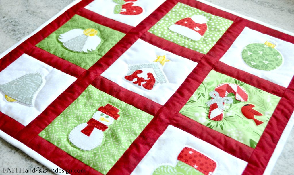 Christmas Applique Wall Hanging
