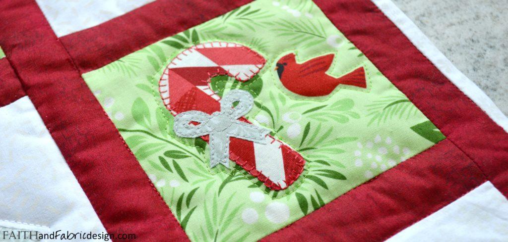 Christmas Applique Wall Hanging Bird