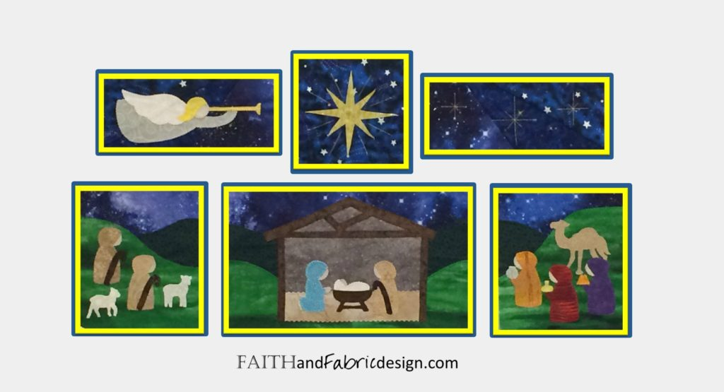 Christmas Nativity Quilt Pattern 22