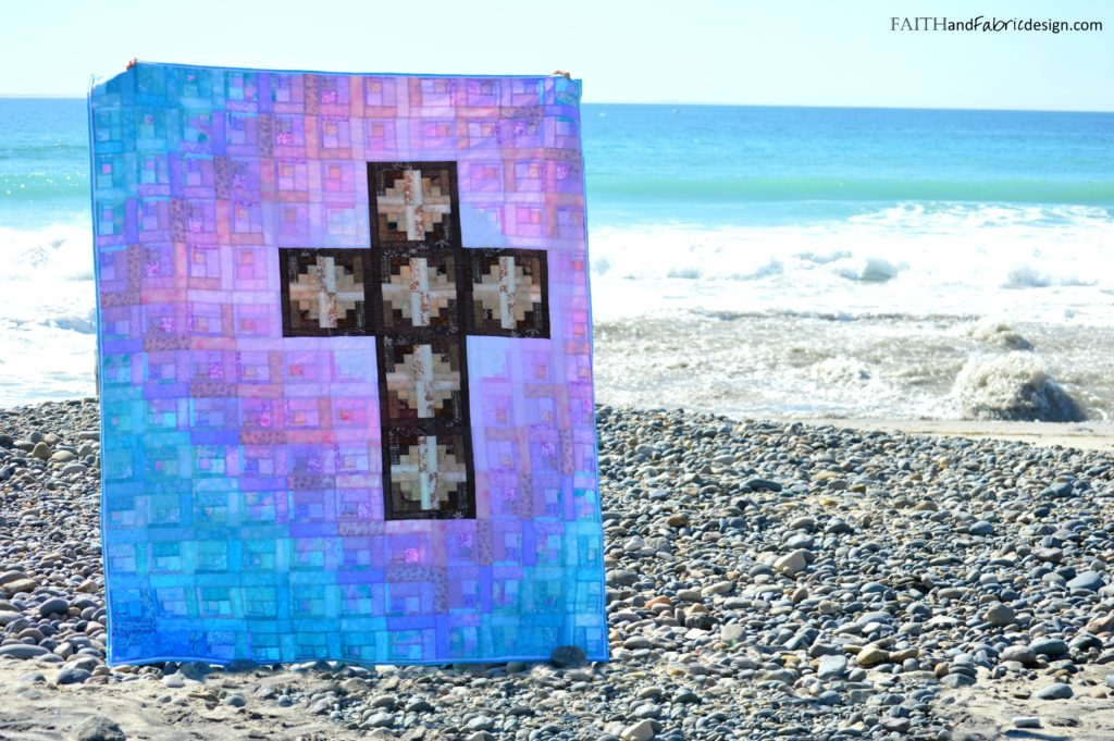 Faith and Fabric - Christian Easter Sunday Risen Quilt Logo
