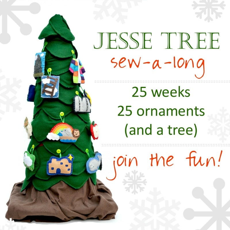 Jesse Tree Sew Along Ornaments Pattern Felt Sew
