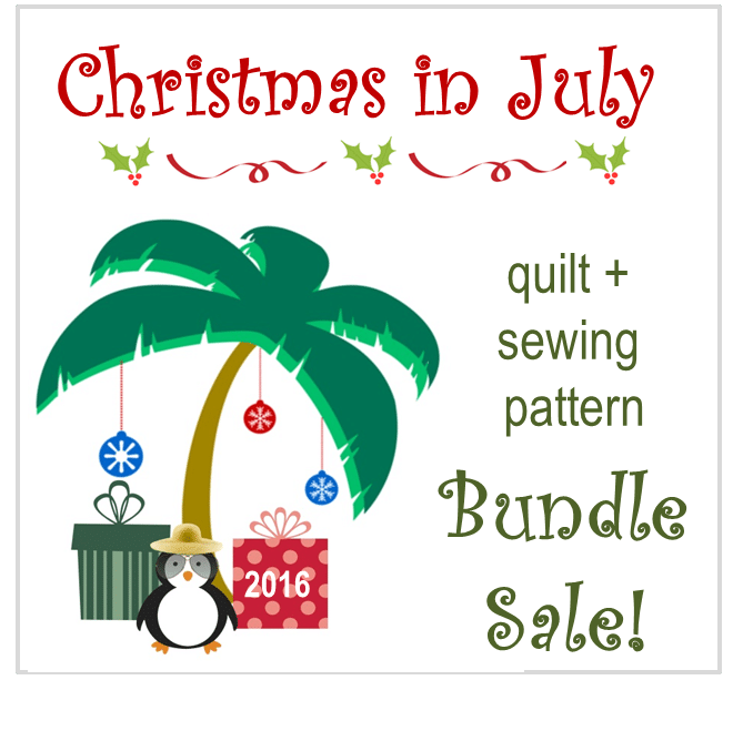 Christmas in July – Quilting and Sewing Bundle Sale