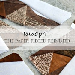 paper pieced reindeer quilt pattern