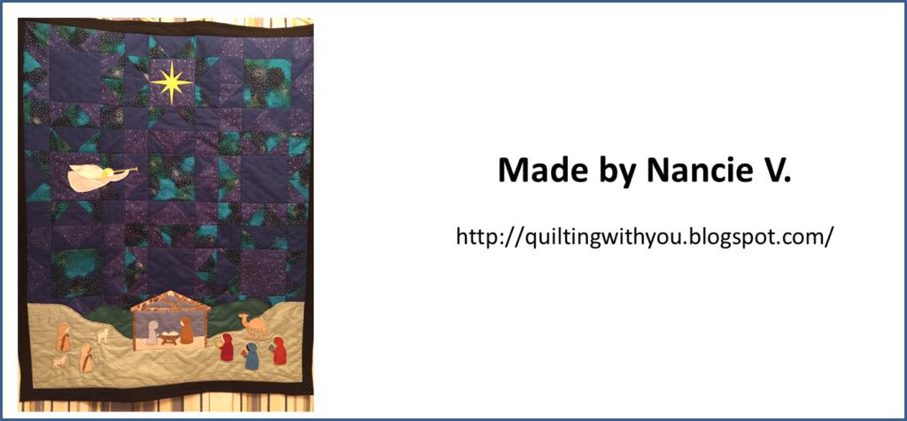 Silent Night Christmas Nativity Quilt Pattern - Nancie