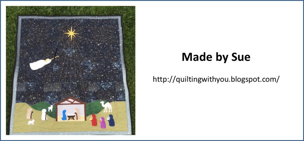 Silent Night Christmas Nativity Quilt Pattern - Sue