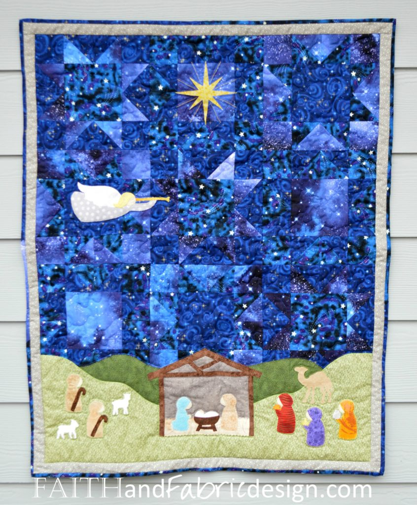 Pattern Silent Night Quilt Pattern A Christmas Nativity