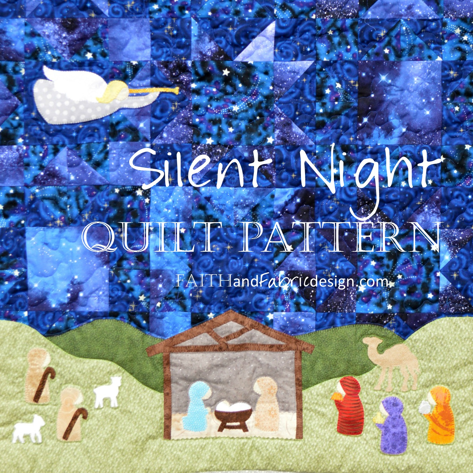 pattern silent night quilt pattern u2013 a christmas nativity quilt