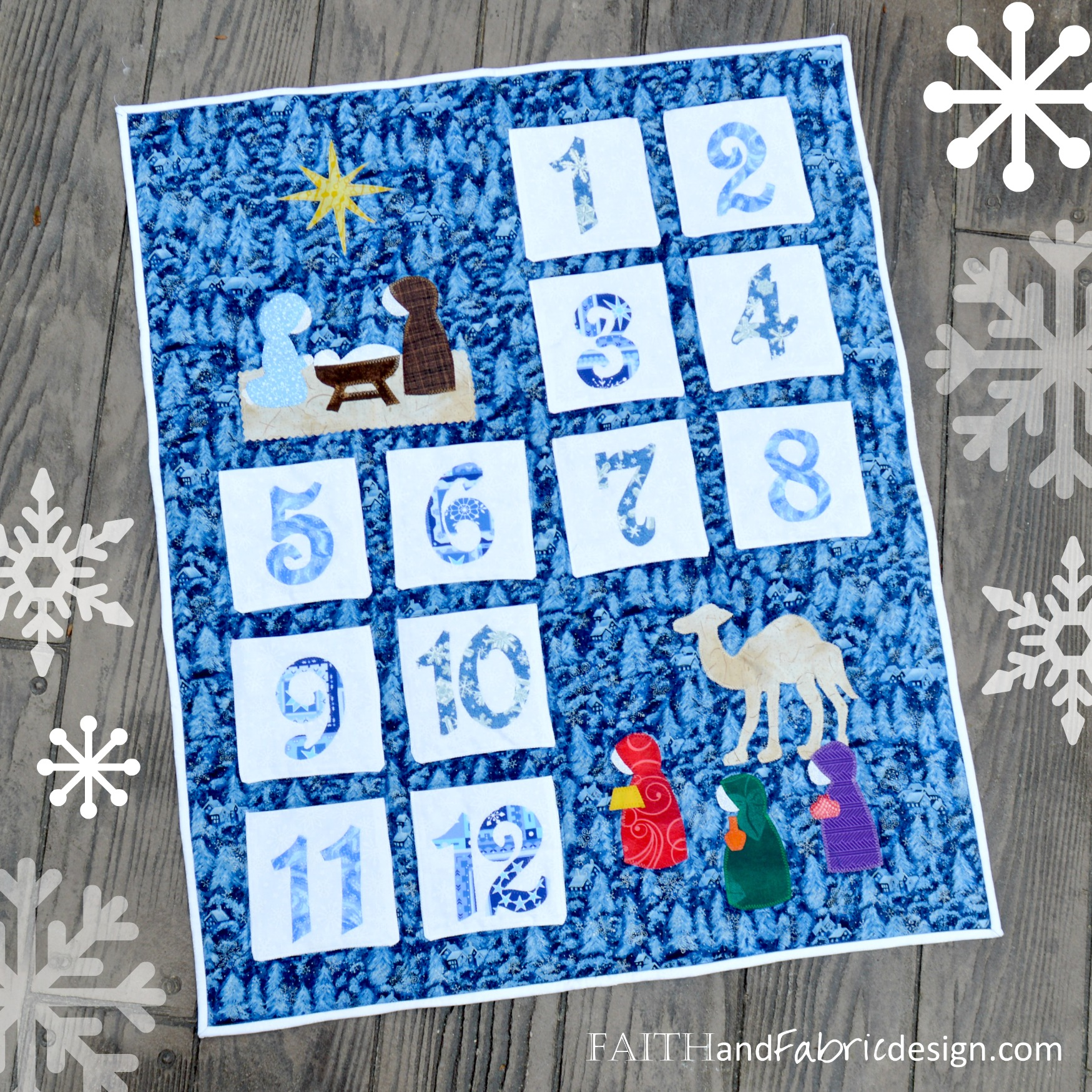 Christmas Quilt Patterns.Pattern Twelve 12 Days Of Christmas Quilt