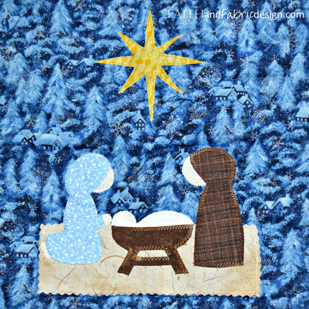 12 Days of Christmas Quilt Nativity Detail