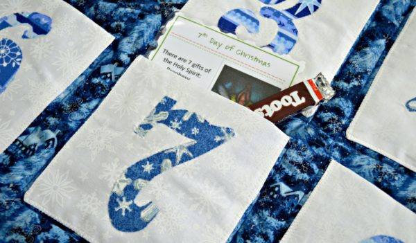 12 Days of Christmas Quilt Pattern Showing Pocket Detail