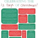 Celebrating the 12 Days of Christmas Printable Square