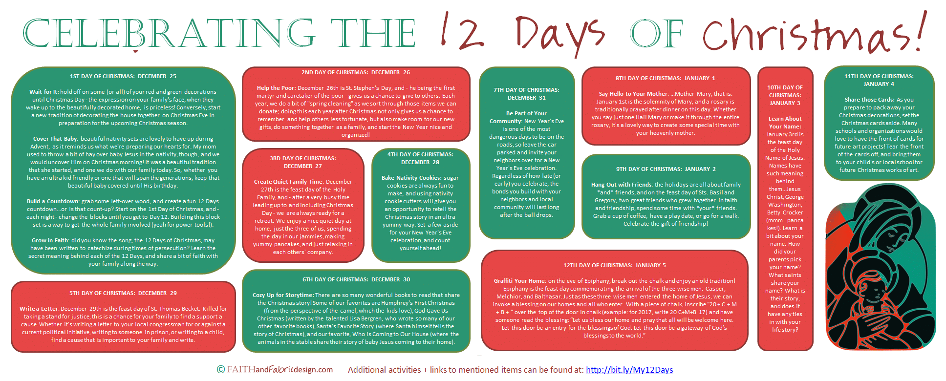 image about 12 Days of Christmas Printable titled Entertaining and Straightforward Methods towards Rejoice the 12 Times of Xmas