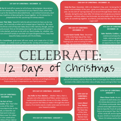 Fun and Easy Ways to Celebrate the 12 Days of Christmas Printable